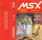 MSX nº 5 Bajo el asfalto (198X)(Edisoft)