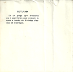 Juegue con su MSX - Issue 04 - Outland (19xx)(Grupo de Trabajo Software)(ES) - Detras